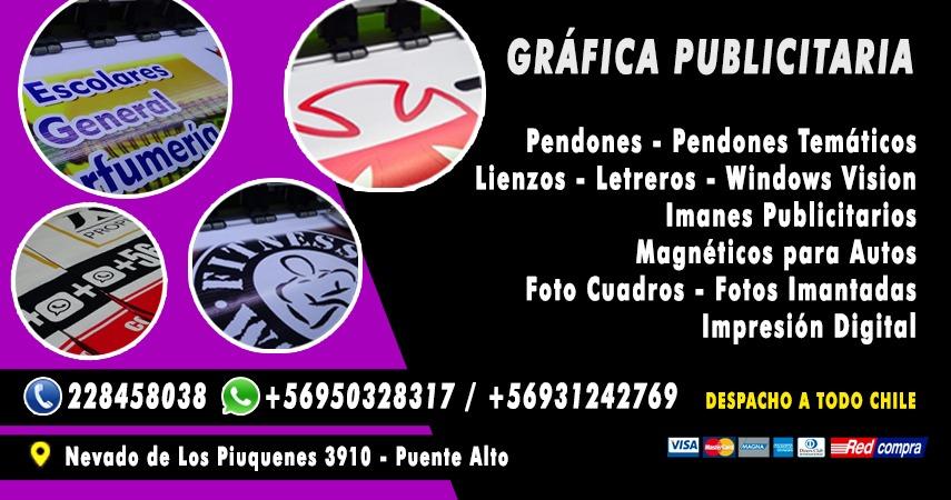 Gráfica Publicitaria - Pendones Puente Alto